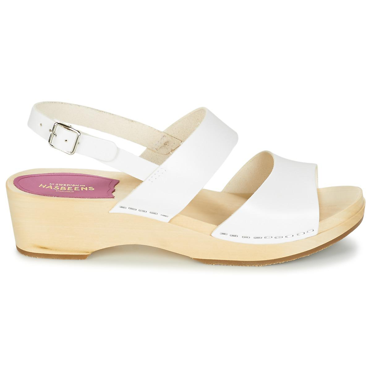 Swedish Hasbeens - Helena Women's Sandals In White - Lyst. View fullscreen