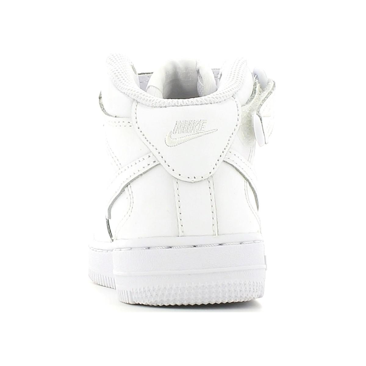 Nike 314196 Sport Shoes Kid White Women's Shoes (high-top Trainers) In White
