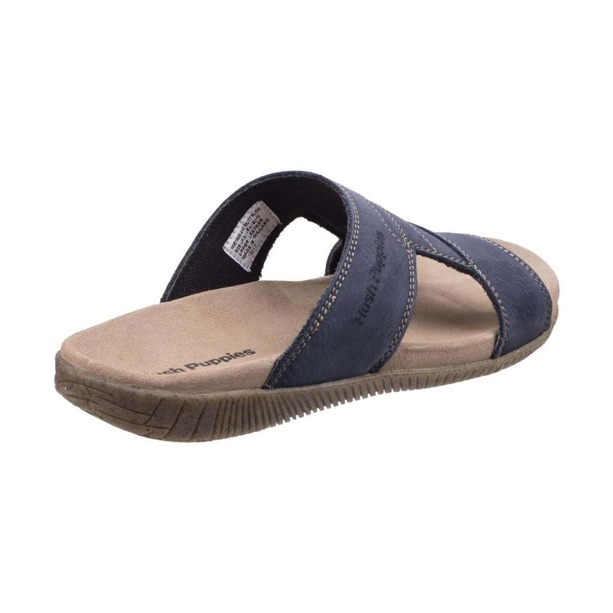 62bc28c534b0 Hush Puppies - Mutt Slider Mens Sandals Men s Sandals In Blue for Men -  Lyst. View fullscreen