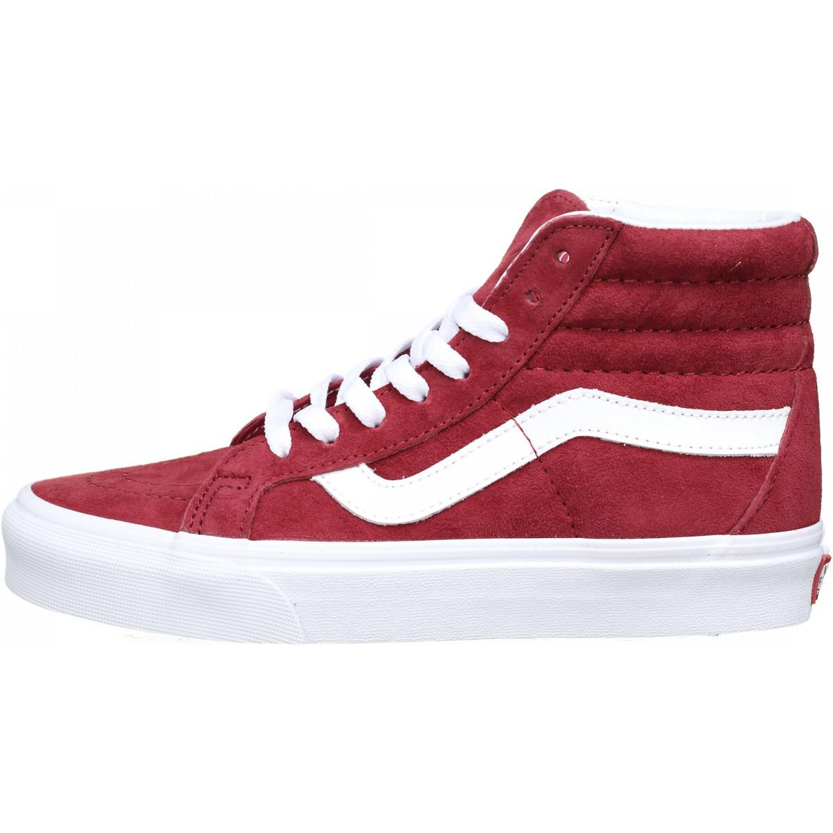 Basket femme montantes femmes Chaussures en rouge Vans en coloris ...