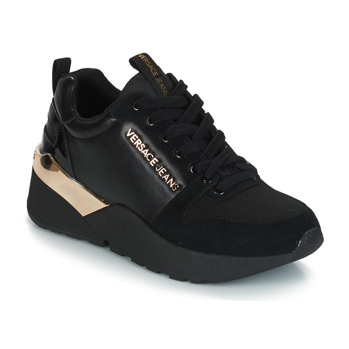 Versace Jeans Denim Donies Shoes (trainers) in Black - Lyst