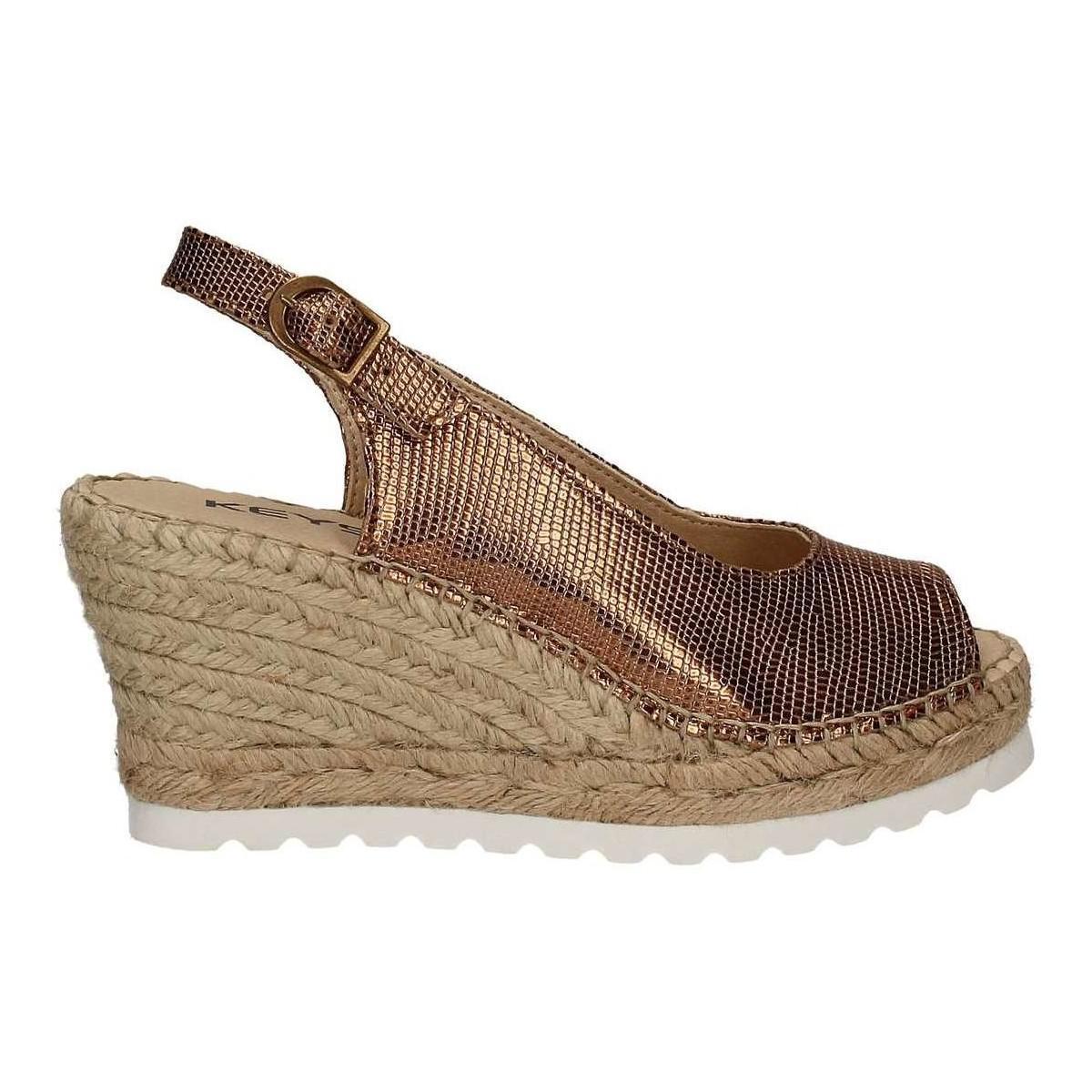 Keys. Metallic 5352 Wedge Sandals Women ...