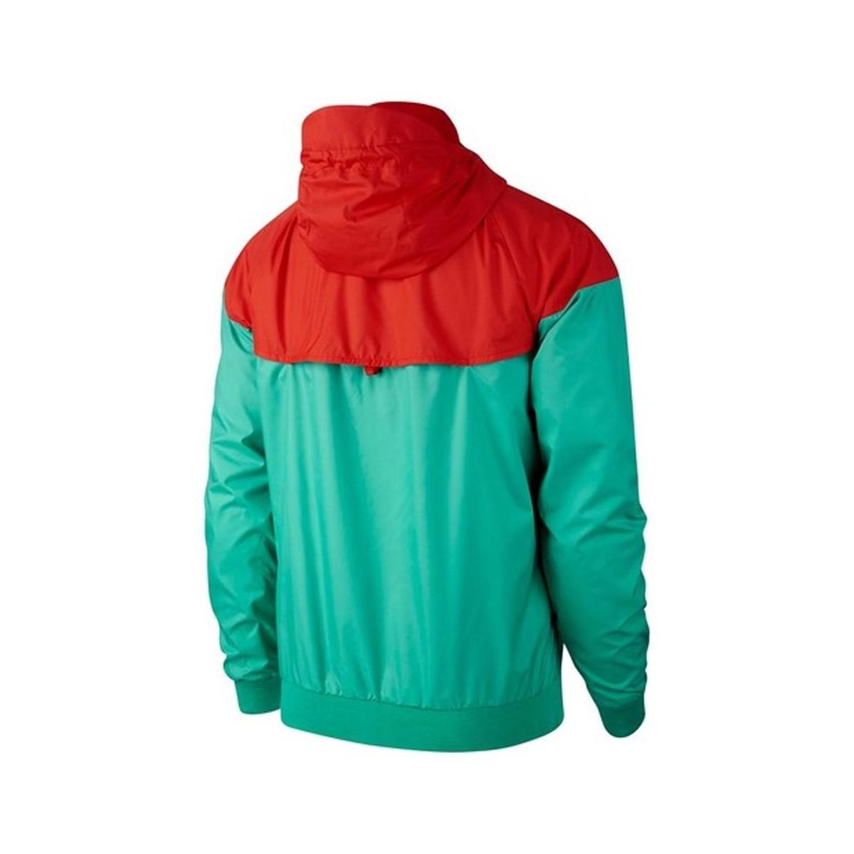 Nike 2018-2019 Portugal Authentic Woven Windrunner Jacket Men's In Green for Men
