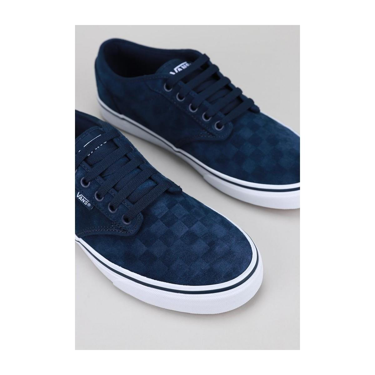 MN Atwood (SUEDE EMBOSS) DRS BL/WHT femmes Chaussures en bleu Vans ...