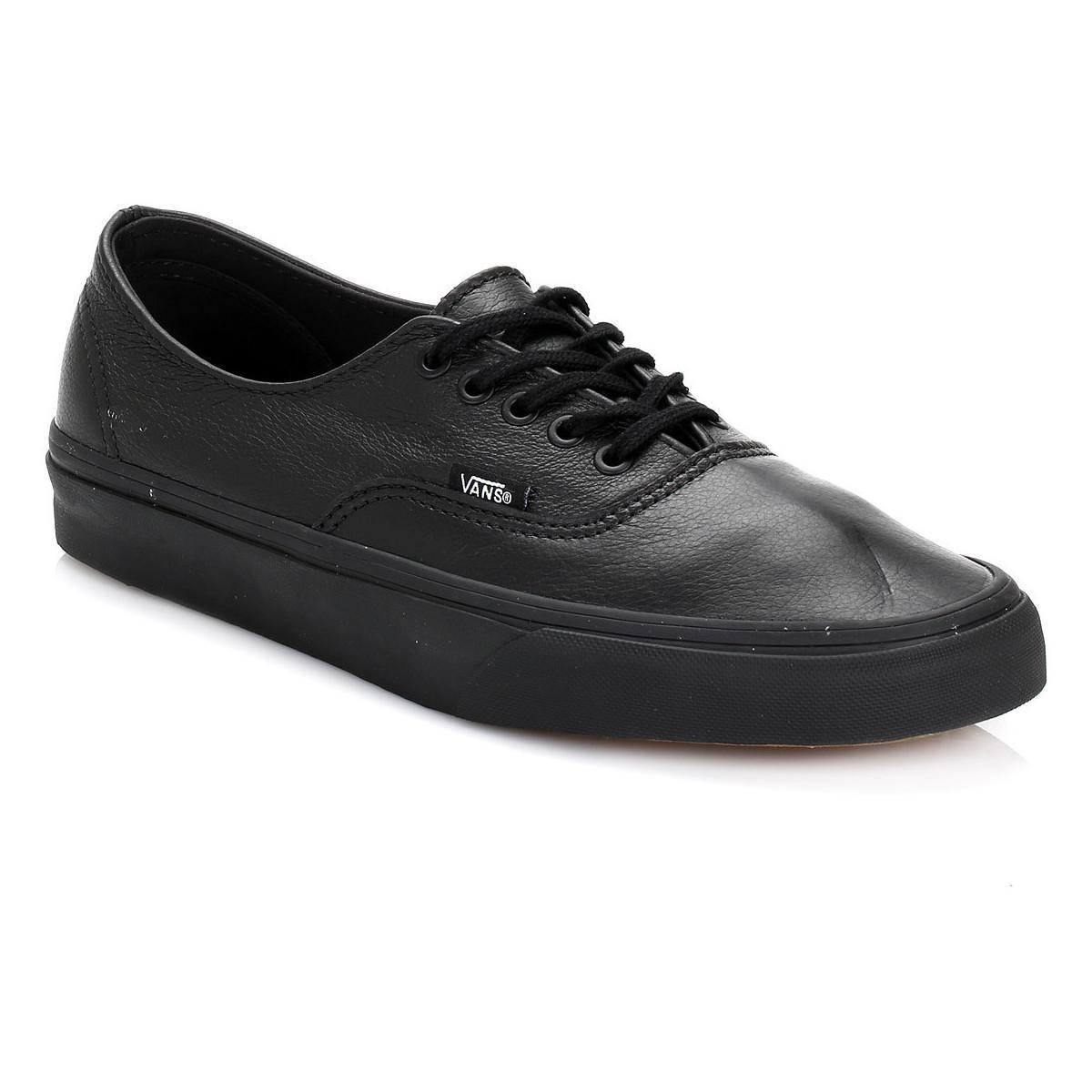 1e677d42af Vans Black Authentic Decon Premium Leather Trainers Men's Shoes ...