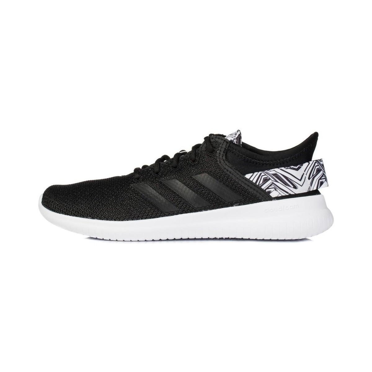 Adidas Cf Qtflex W Women s Shoes (trainers) In Black in Black - Lyst ba87aebd7