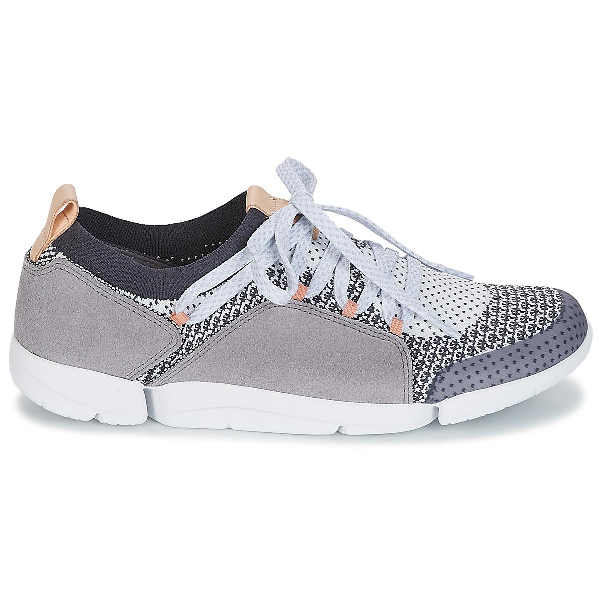 bf1ab36470e4f Clarks - Gray Tri Amelia Women s Shoes (trainers) In Grey - Lyst. View  fullscreen