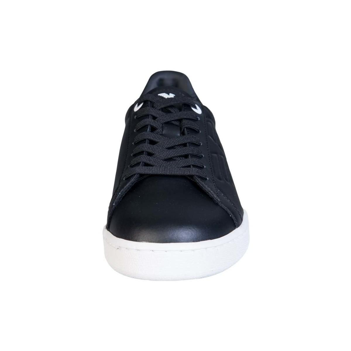 EA7 Leather Trainers 248028 Cc299 Men's Shoes (trainers) In Black for Men