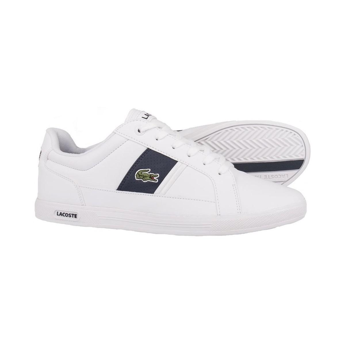 a1a5398d3667 Lacoste Europa Lcr3 Wht Men s Shoes (trainers) In White in White for ...
