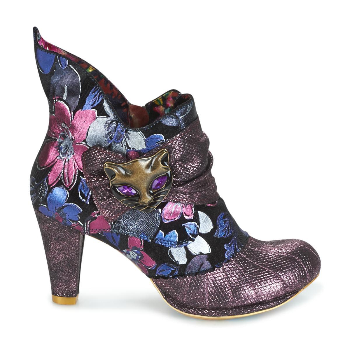 Irregular Choice Miaow Women's Low Boots In Purple