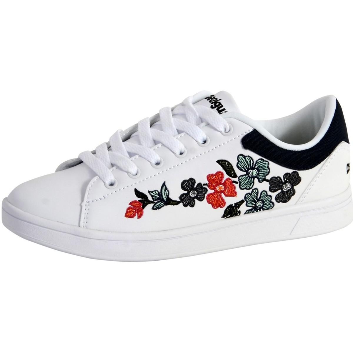 tout neuf ed9a2 17919 Basket Retro Court Geopatch femmes Chaussures en blanc Desigual en coloris  White