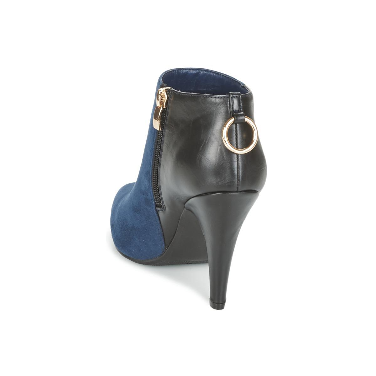 Moony Mood Emrine Women's Low Ankle Boots In Blue