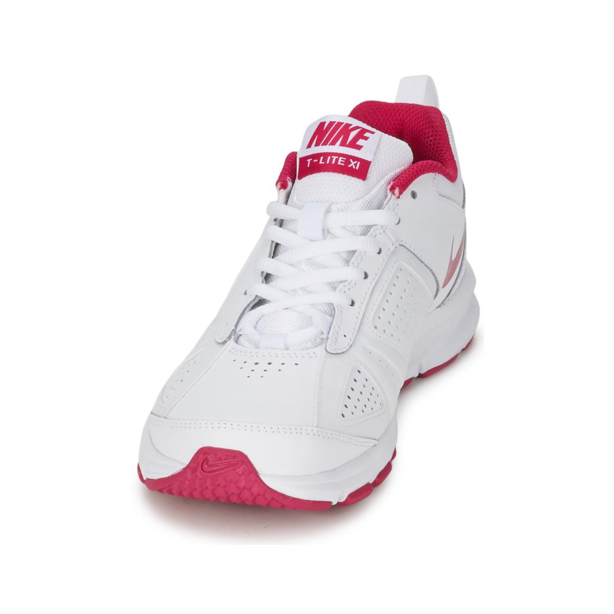 Nike Leather T-lite Xi Women's Sports Trainers (shoes) In White