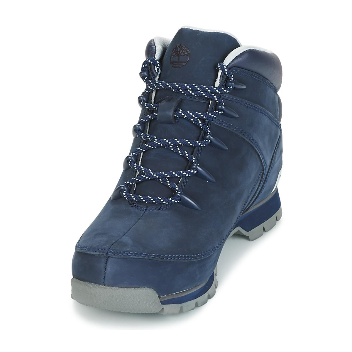 c8049cf2e78 Timberland Euro Sprint Hiker Black Iris Men's Mid Boots In Blue for men