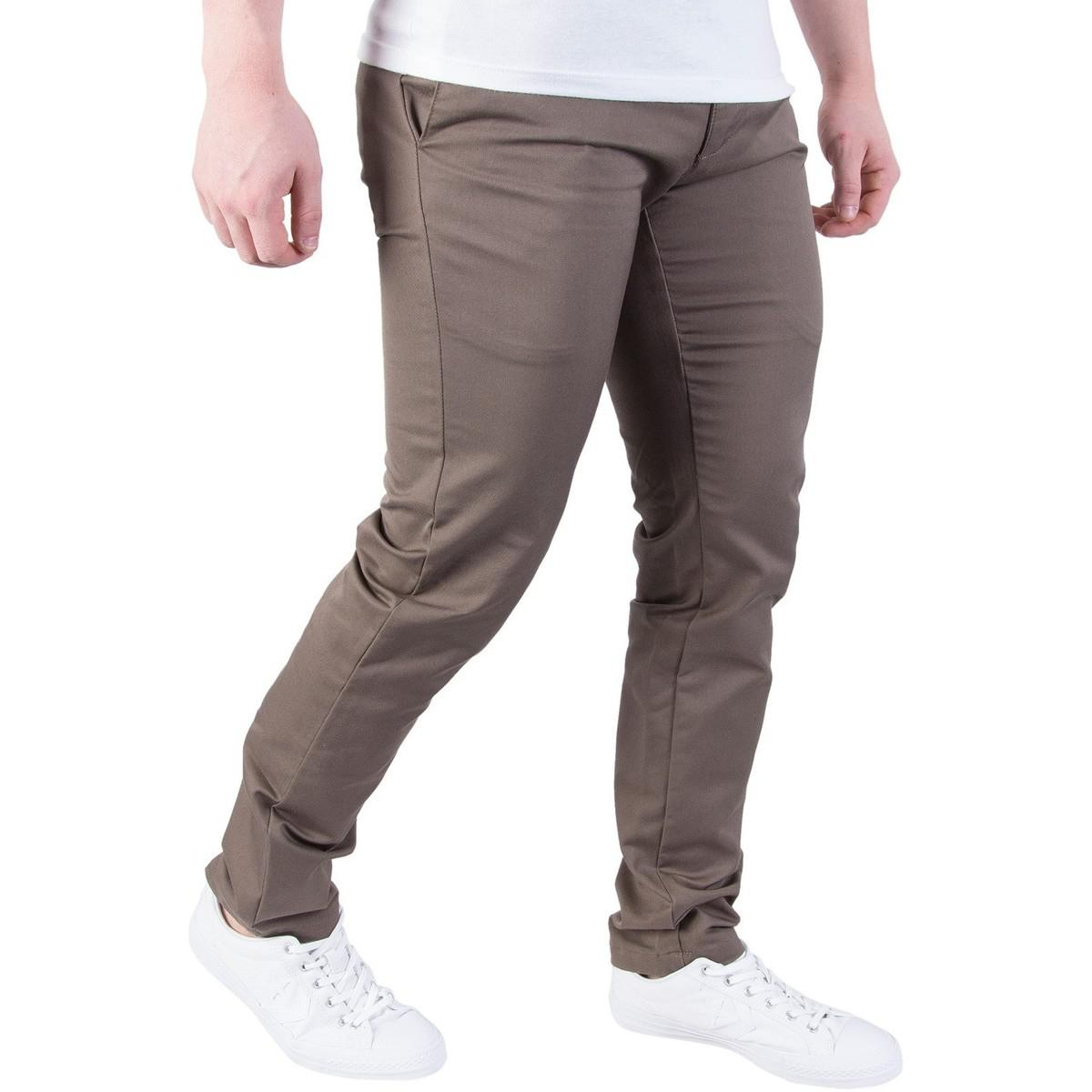 Carhartt WIP Men's Sid Slim Tapered Rinsed Chinos, Green Men's Trousers In Green for Men