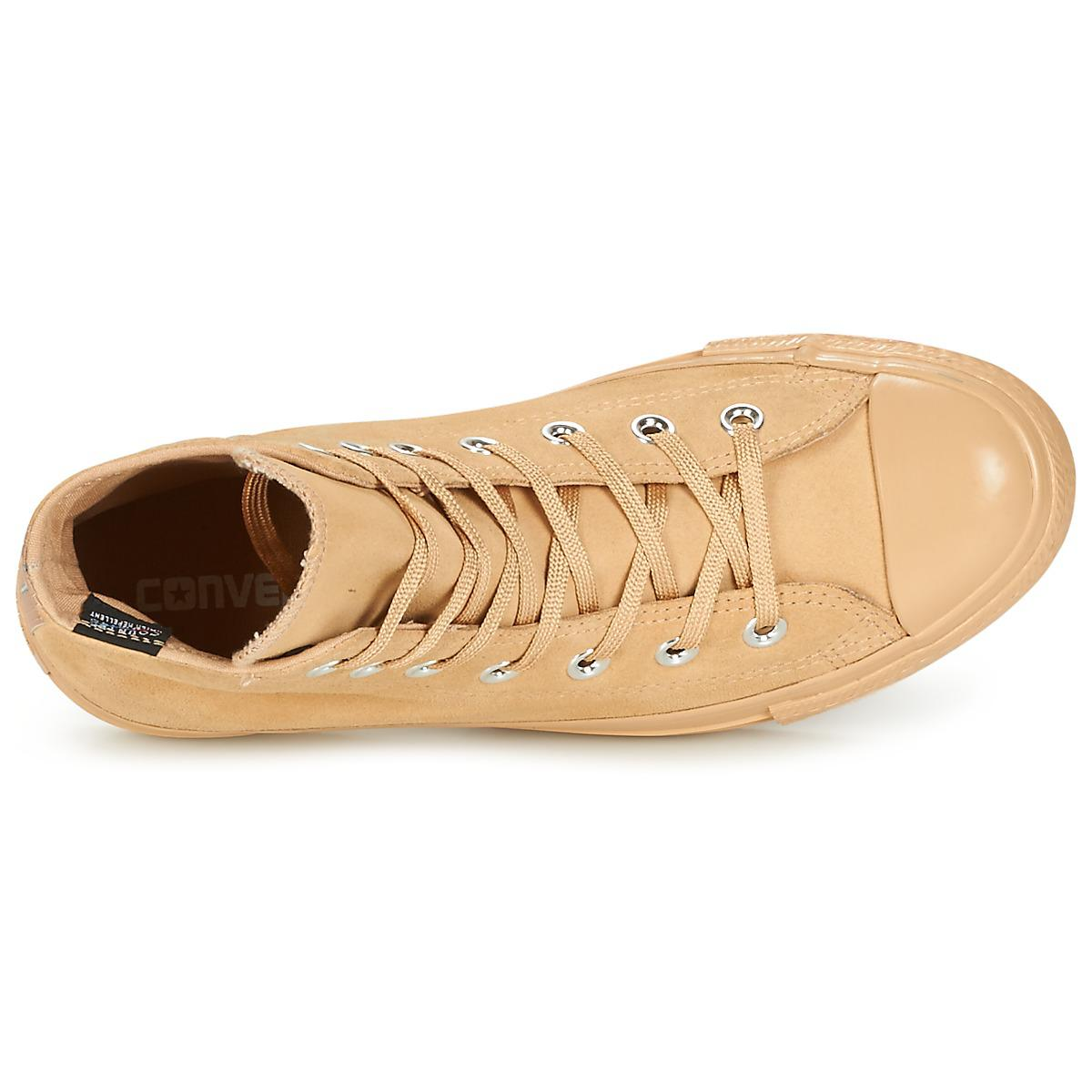 Converse Chuck Taylor All Star Mono Plush Suede Hi Light Fawn/light Fawn/ Women's Shoes (high-top Trainers) In Beige in Natural