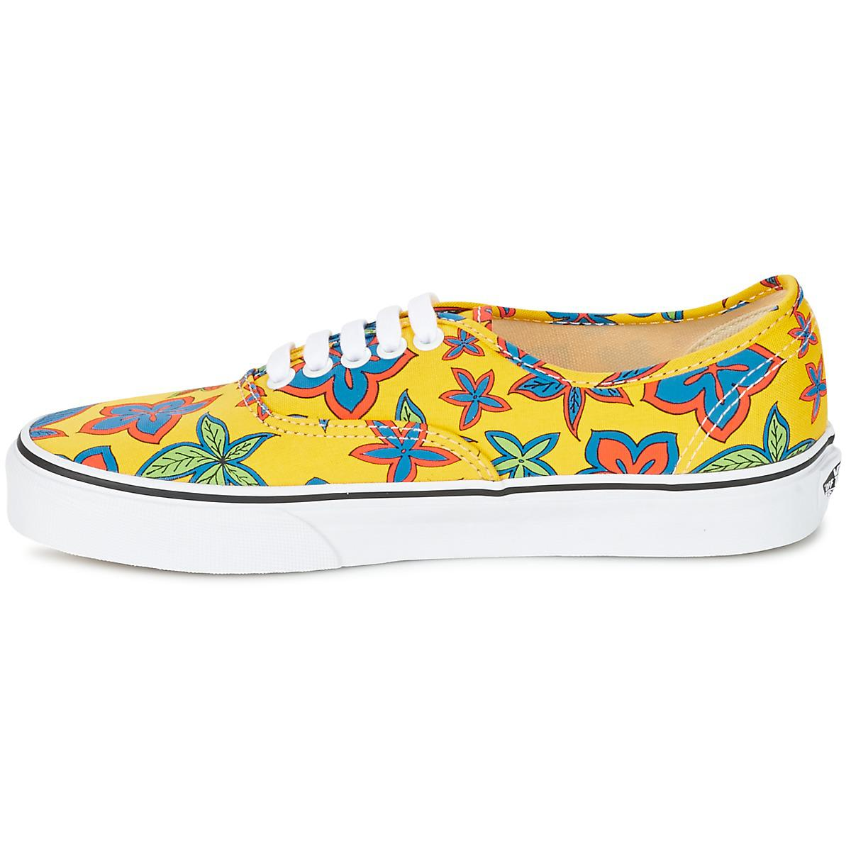 Vans Ua Authentic Women's Shoes (trainers) In Yellow