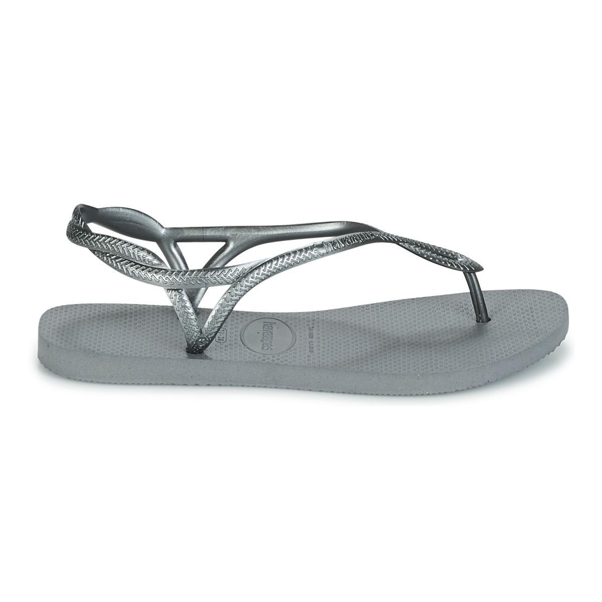 94efb7879e5cc1 Havaianas - Metallic Luna Women s Flip Flops   Sandals (shoes) In Silver -  Lyst. View fullscreen