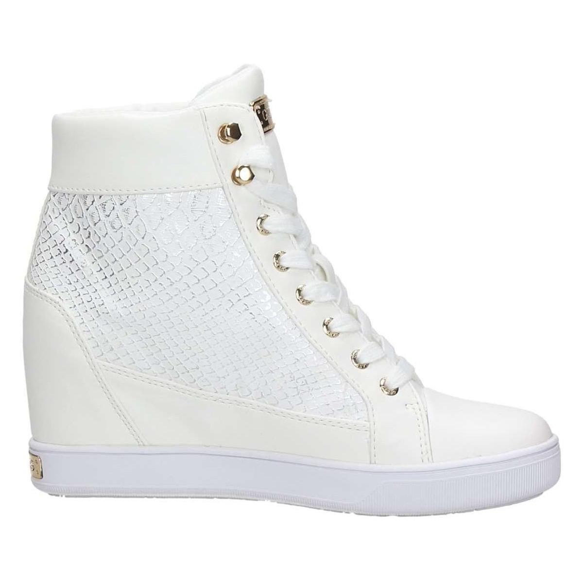 Guess Flfor1 Fal12 Sneakers Women's Shoes (high-top Trainers) In White