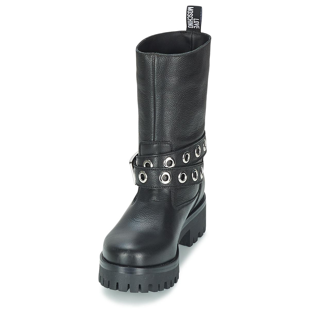Love Moschino Grogi Mid Boots in Black - Save 18%