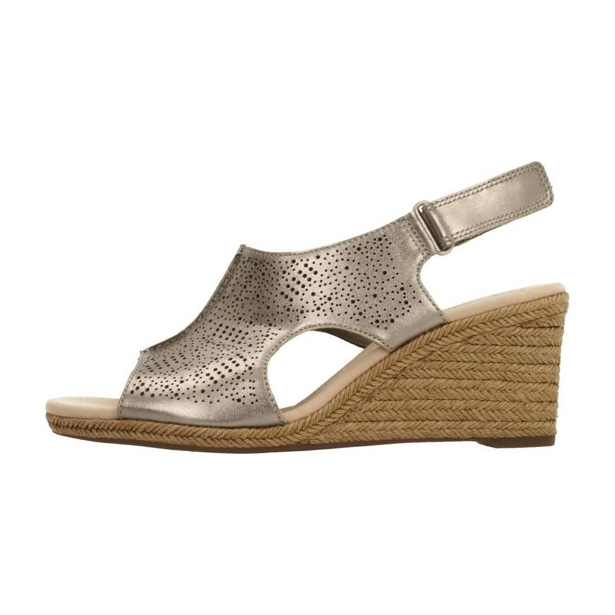 45b8bf1315d8 Clarks - Gray Lafley Rosen Pewter Metall Women s Espadrilles   Casual Shoes  In Grey - Lyst. View fullscreen
