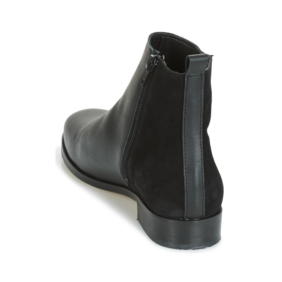 Betty London Leather Heloi Women's Mid Boots In Black