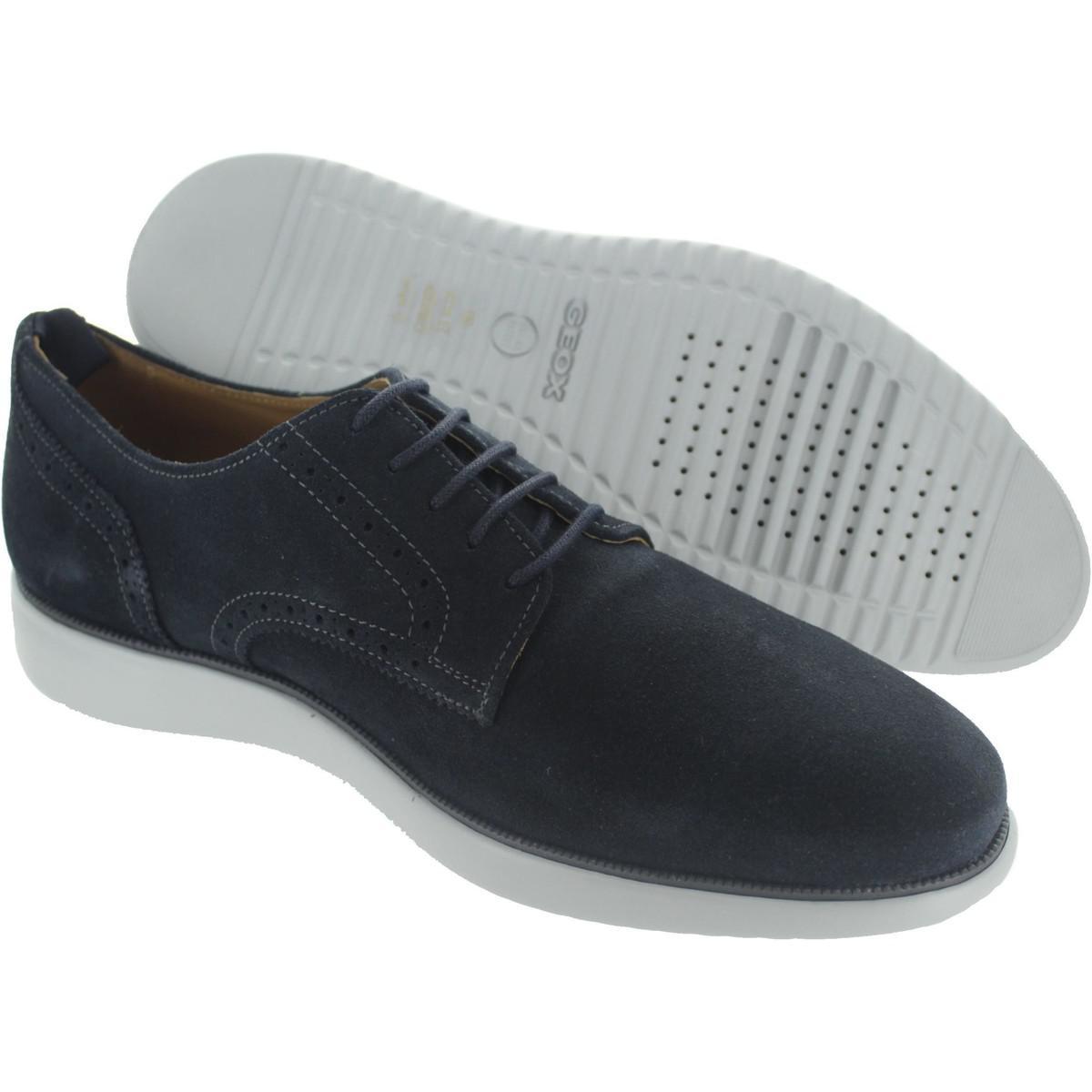 Geox Leather U Winfred A Men's Smart / Formal Shoes In Blue for Men
