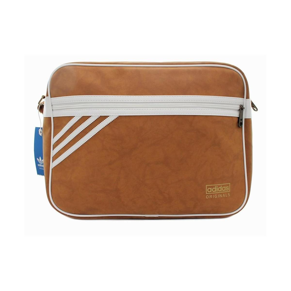 2340244d3a Adidas Airliner Suede Women s Messenger Bag In Brown in Brown - Lyst