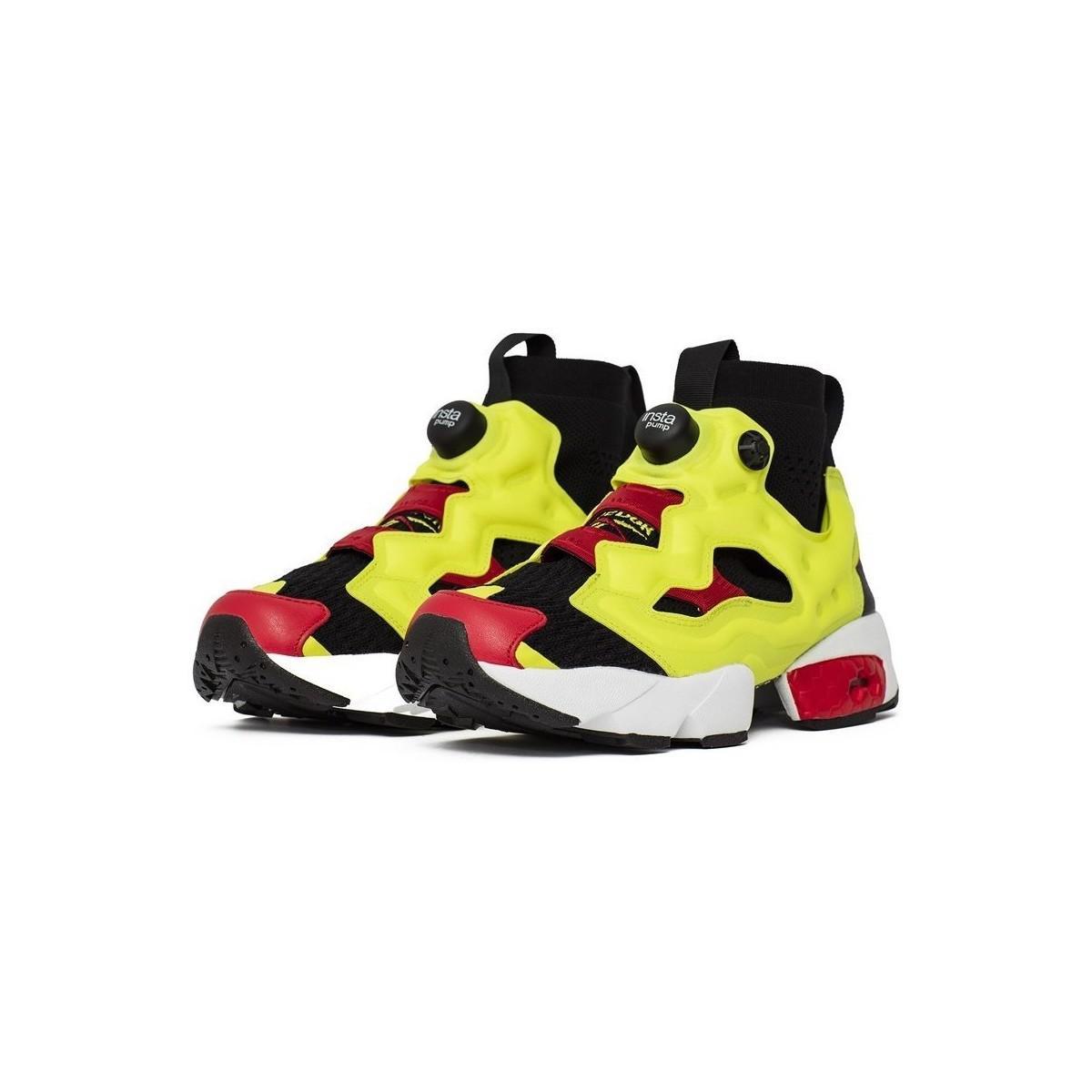 Reebok Instapump Fury Og U Blackhypergreenrbk Men's Shoes (high-top Trainers) In Red for Men