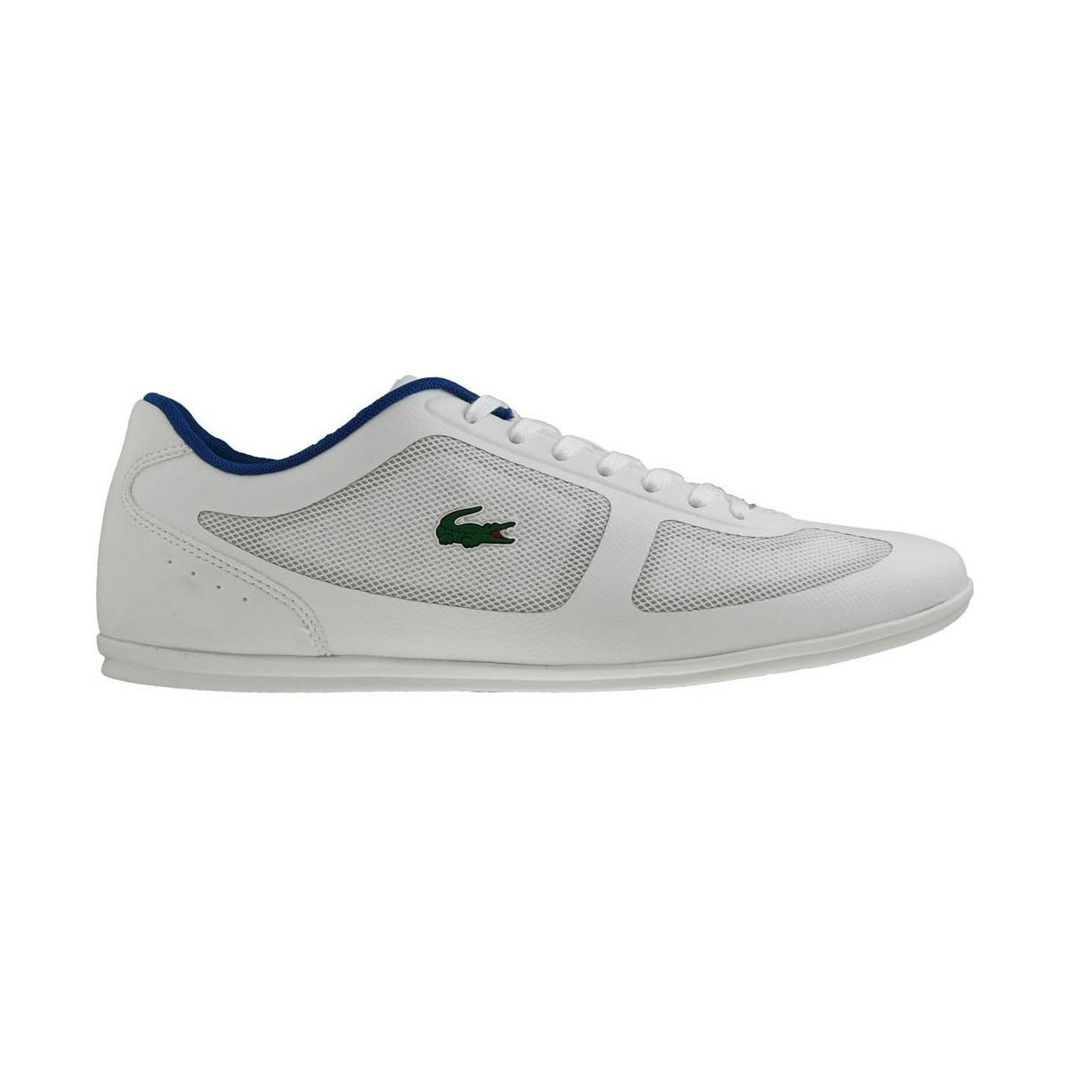 6550cd63f Lacoste Misano Evo 117 1 Cam Wht Men s Shoes (trainers) In White in ...