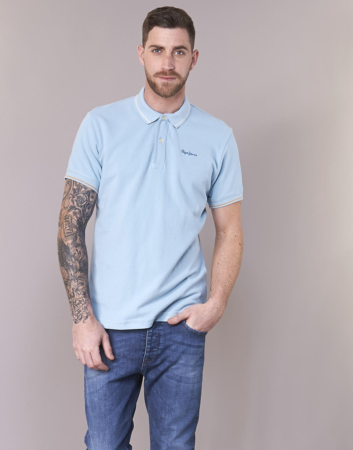 397e6cc0 Pepe Jeans Angelico Polo Shirt in Blue for Men - Lyst