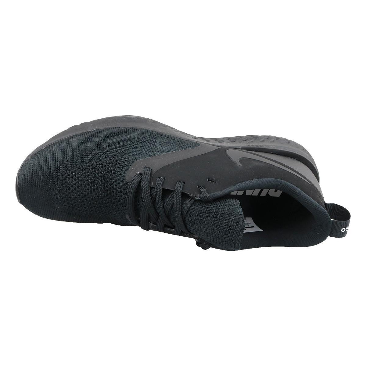Nike Lage Sneakers Odyssey React Flyknit 2 Ah1015-003 in het Zwart voor heren