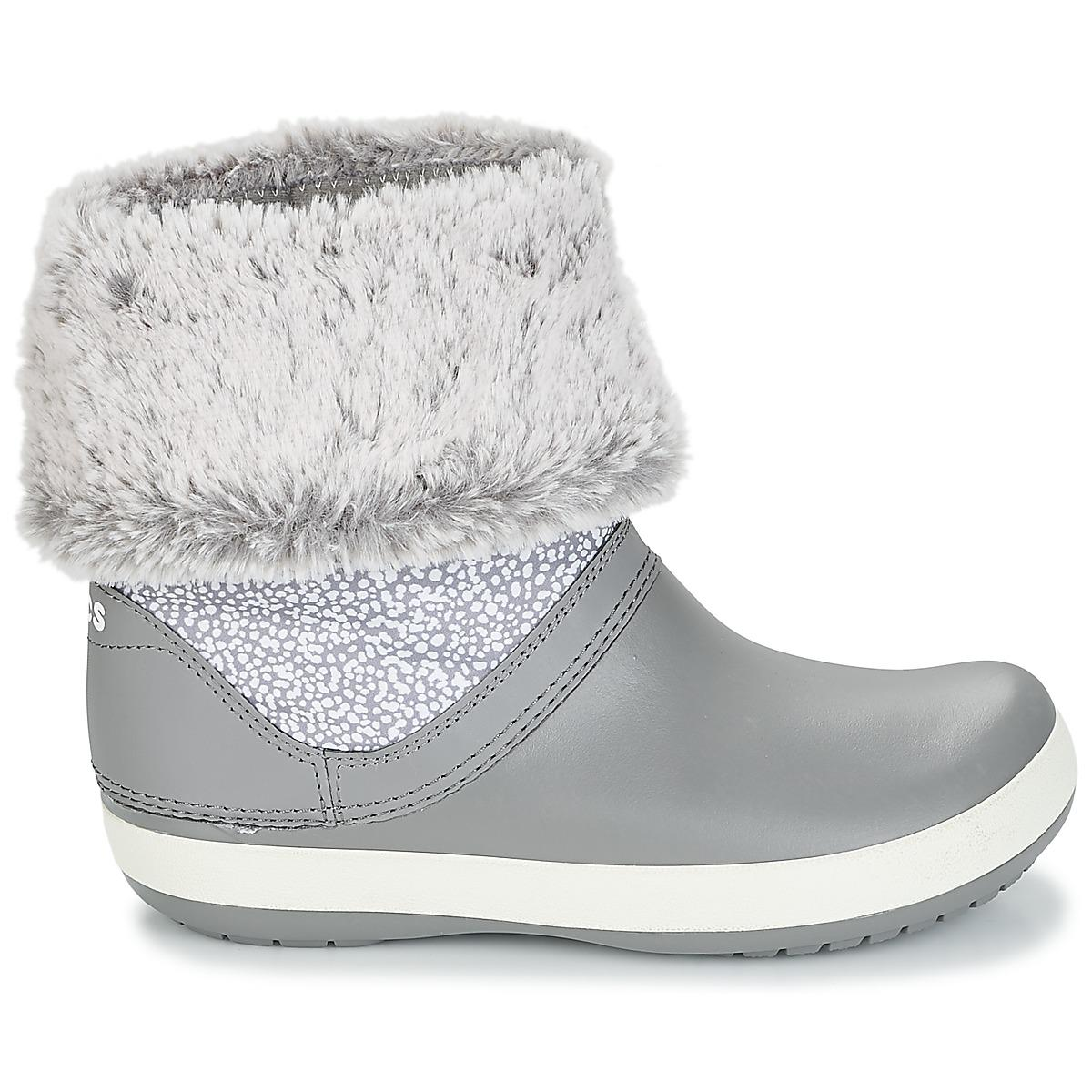 Crocs�?Synthetic Crocband Winter Boot W Women's Snow Boots In Grey in Grey