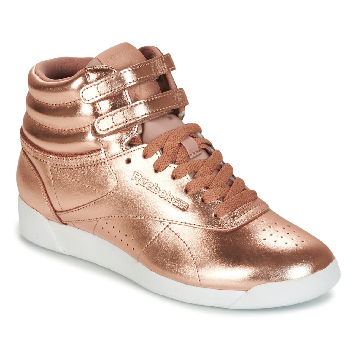 8df4c358d92 Reebok F s Hi Metallic Shoes (high-top Trainers) in Metallic - Lyst