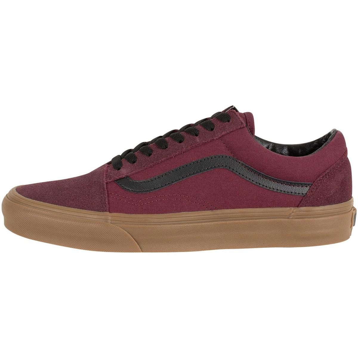 Chaussures Homme Baskets Old Skool Gum Outsole, Rouge Vans pour ...