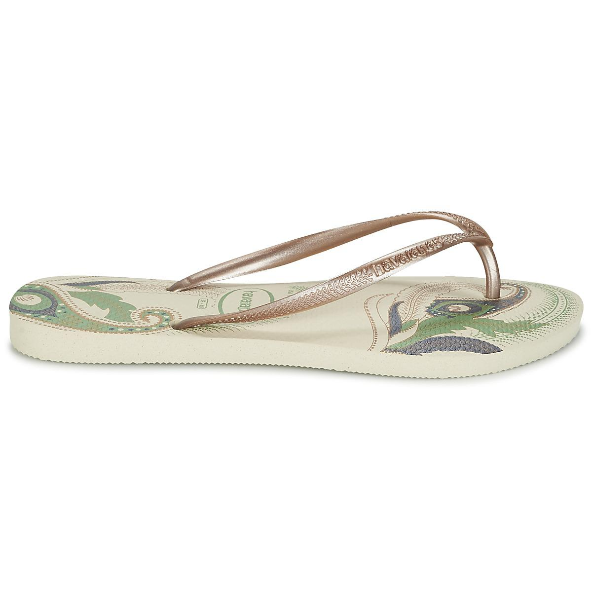 c3221a0c14ca93 ... Havaianas - Natural Slim Organic Flip Flops - Lyst. View fullscreen  online shop 163ae a721d ...