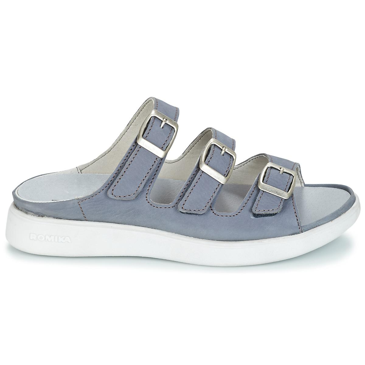 Romika Pour Mules Gomera Sandale Casual Bleu 02 En Chaussures Femmes qwRUH