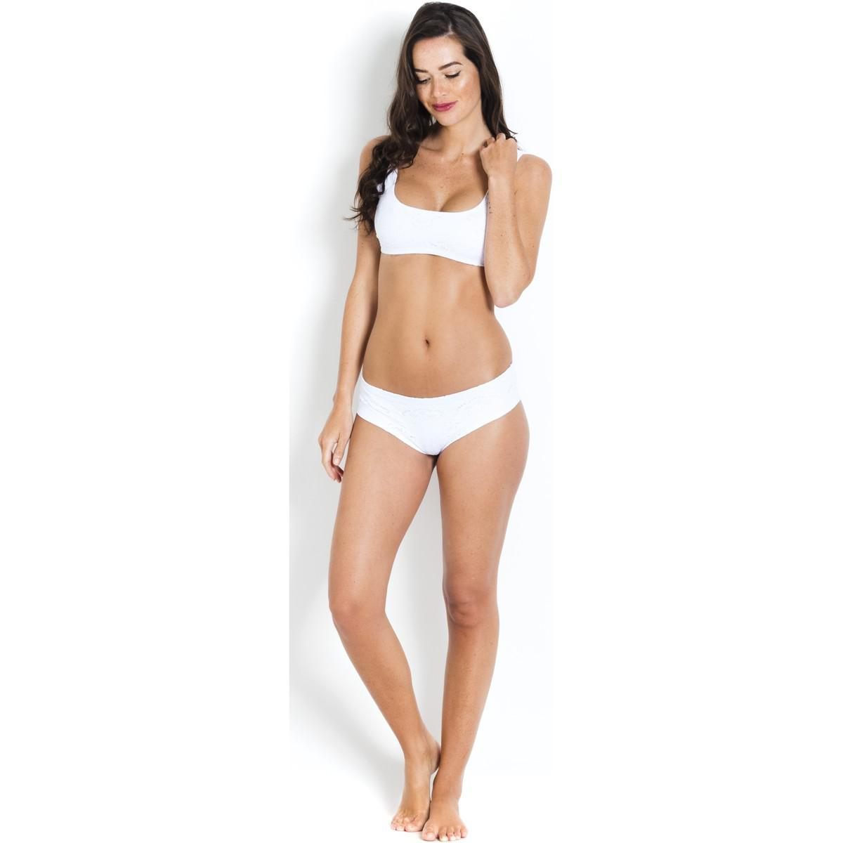 Bikini Top Embroidered Apoline PAIN DE SUCRE White - Jersey Broderie anglaise Pain De Sucre Buy Cheap Outlet Locations Fake Cheap Online Sale Many Kinds Of Visa Payment 8WfnBz