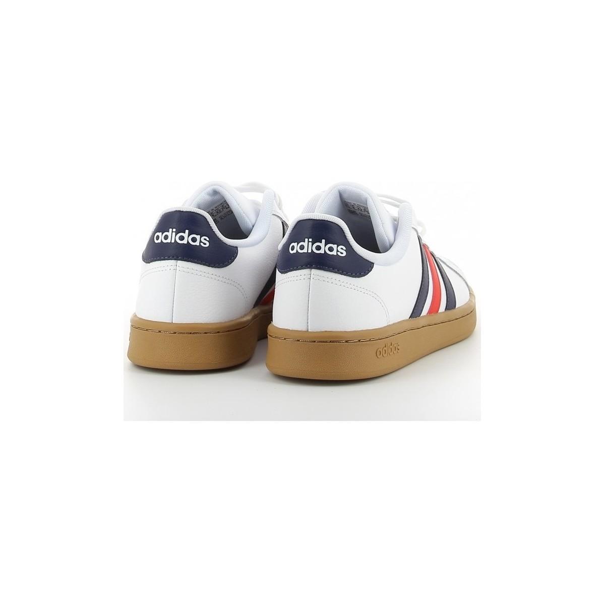 adidas Lage Sneakers Grand Court Blanco in het Wit voor heren