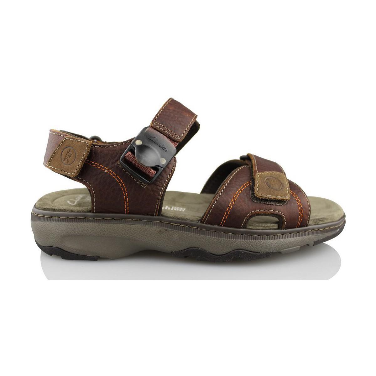 604b16d1aefc Clarks Raffe Sun Men s Sandals In Brown in Brown for Men - Lyst