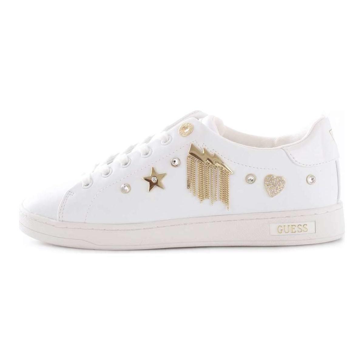 Guess - White FLCIT4ELE12 femmes Chaussures en blanc - Lyst. Afficher en  plein écran 27f2ba25e5c6