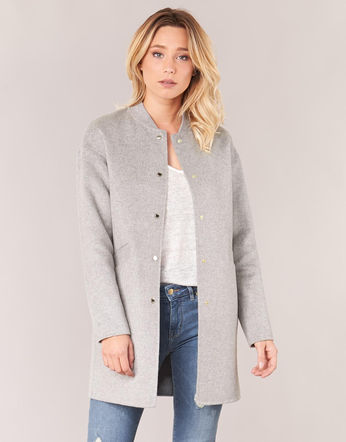 c946ab23 Tommy Hilfiger Carmen Df Wool Bomber Coat Women's Coat In Grey in Gray -  Save 14% - Lyst