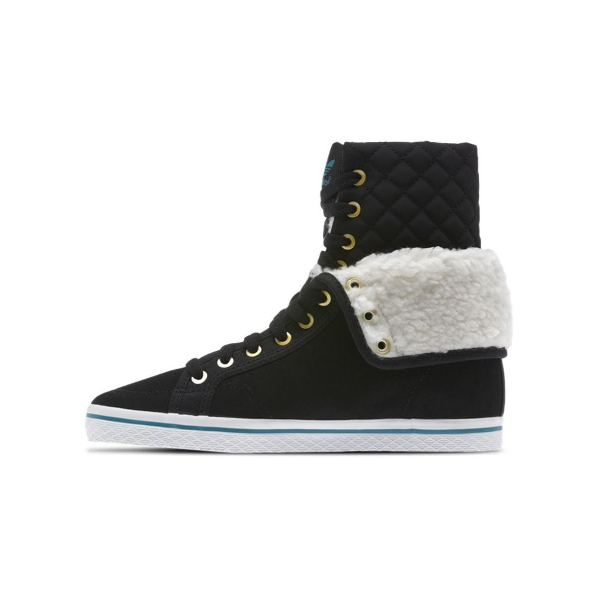 Honey Hi Collegiate Women's Shoes (high top Trainers) In White