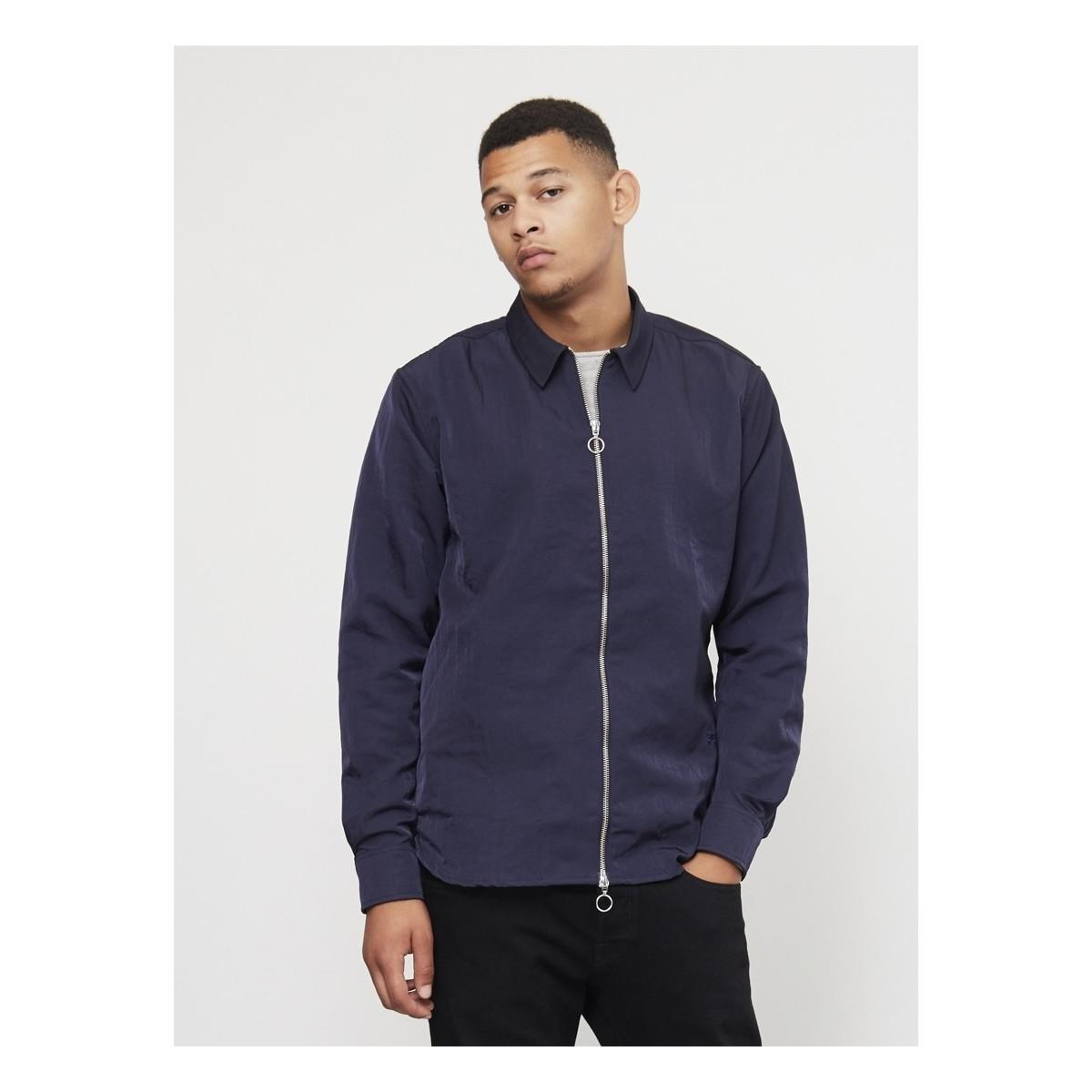 Soulland David Light Zip Jacket Navy Men's Jacket In Blue for Men