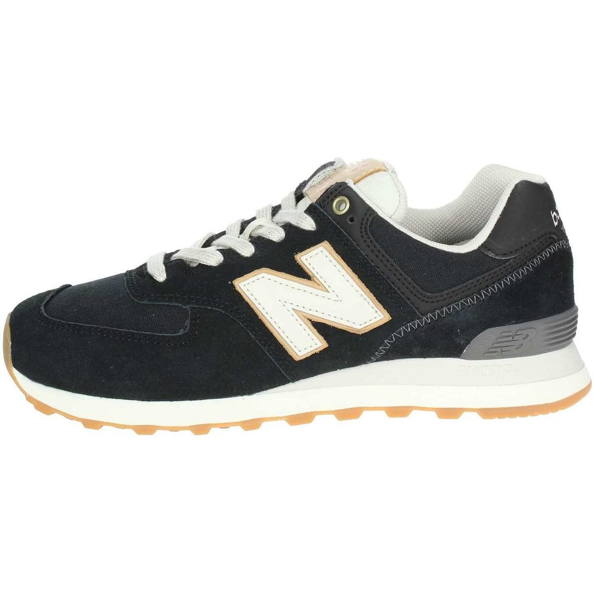 online store ad2a8 a8145 New Balance. Ml574oua Low Trainers Man Black Men s Shoes ...