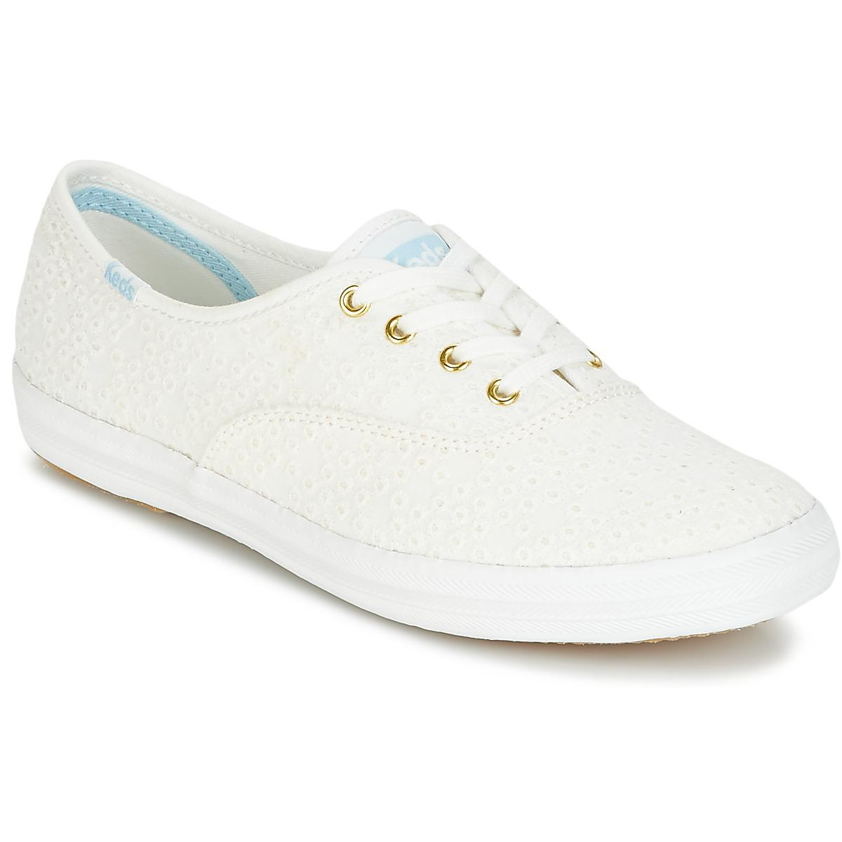 22a6bbc2503c Keds Champion Dot Eyelet Shoes (trainers) in White - Lyst