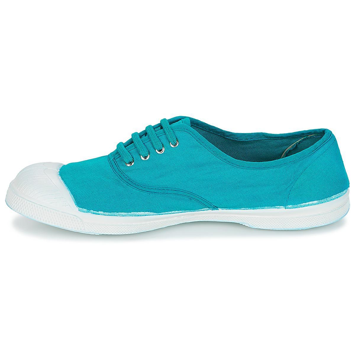 Bensimon Tennis Lacet Women's Shoes (trainers) In Blue