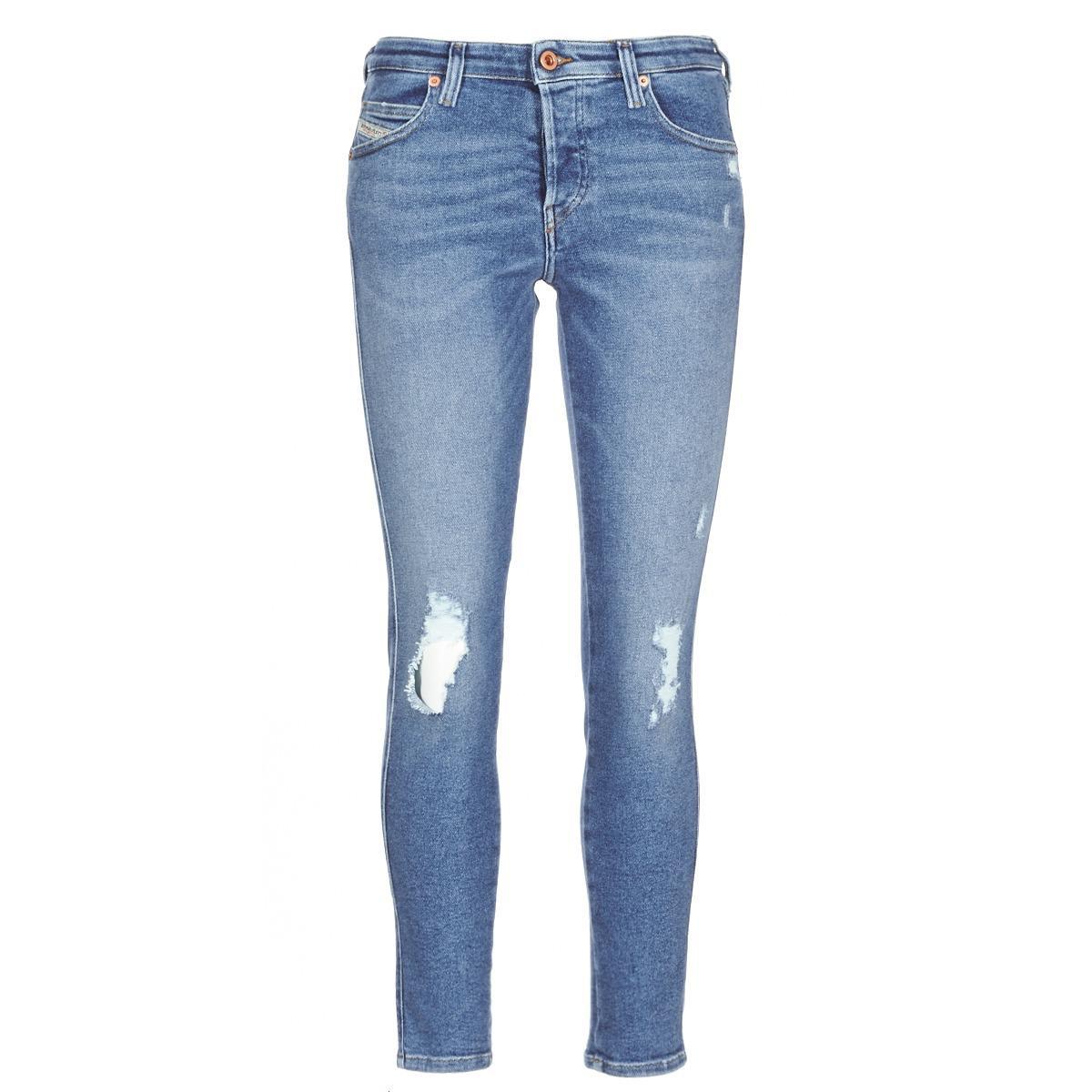 58fb989d DIESEL Babhila Women's Skinny Jeans In Blue in Blue - Lyst