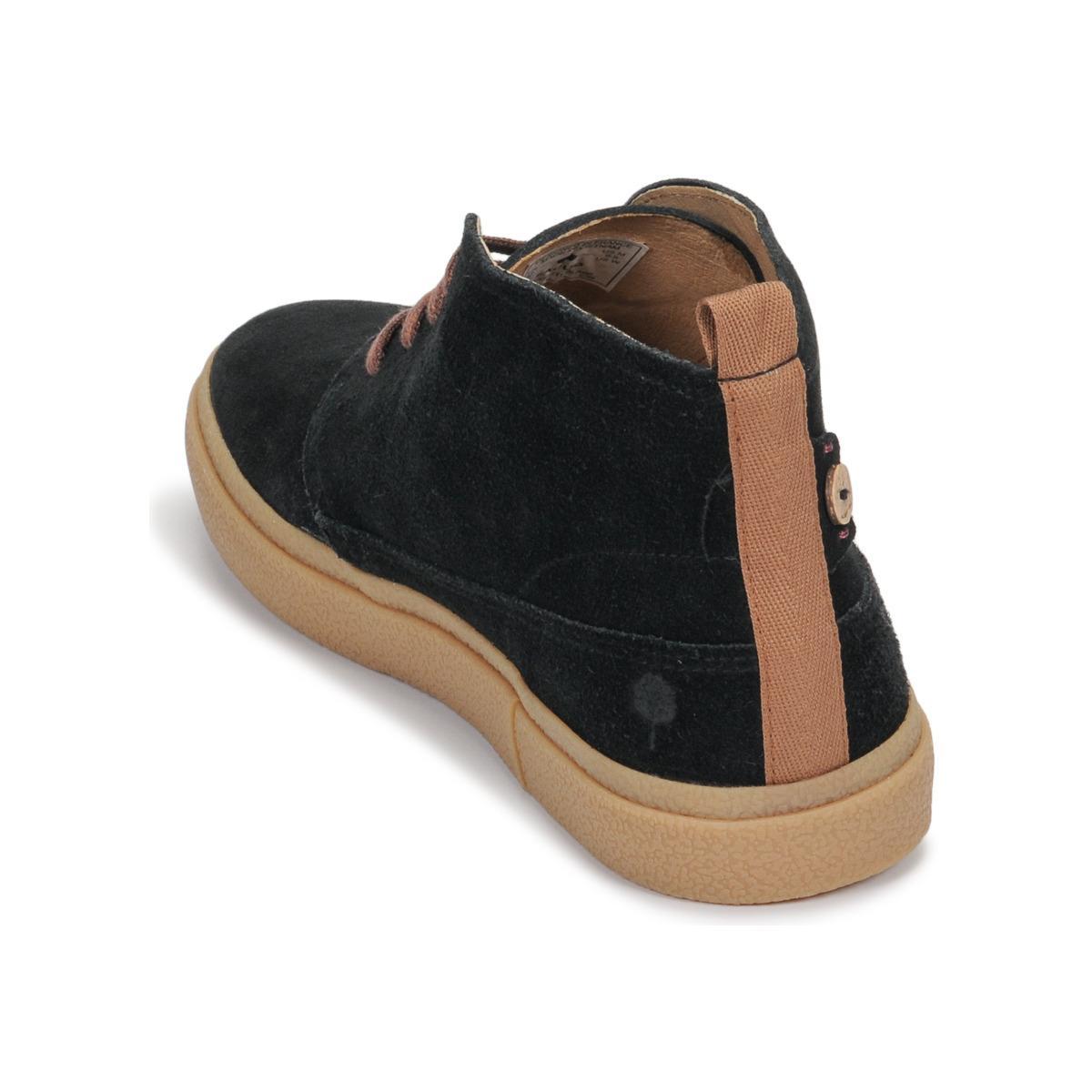 Faguo Hoge Sneakers Elder Suede in het Zwart voor heren