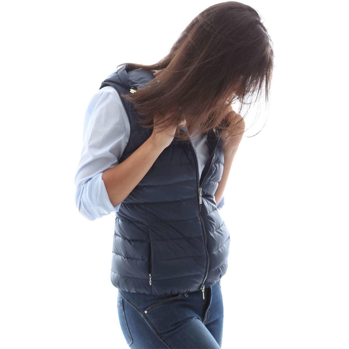 Geox W6225b T1816 Down Jacket Women Blue Women's In Blue for Men